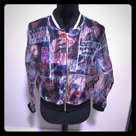 Blush Jackets & Blazers - Blush Unique Magazine Cover Jacket! 🖤